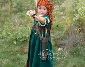 Merida - Everyday Princess Dress - Character Inspired Peasant Dress - Sizes 12/18months through 6