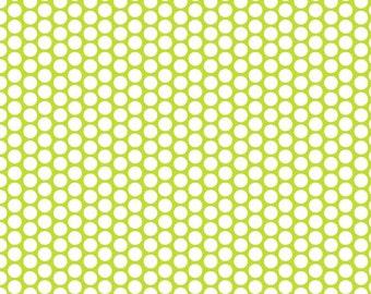 Lime Green Honeycomb Dot Fabric by Riley Blake