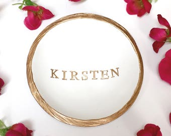 Personalized Ring Dish / Personalized Name Jewelry Dish / Personalized Jewelry Dish / Gift for Her /Bridesmaid Gift / Personalized Gift