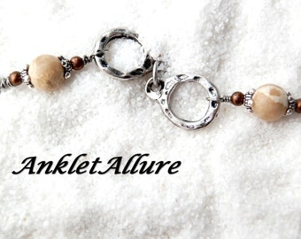 AGATE Ankle Bracelet CHAIN Anklet STONE Anklets for Women