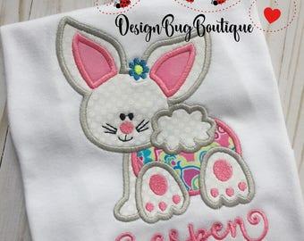 Cute Bunny Girl Applique Design