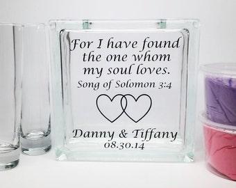 Unity Sand Set - Wedding Sand Set - Unity Sand Ceremony Set - Beach Wedding Decor, Unity Candle Set - Sand Ceremony Set - Song of Solomon