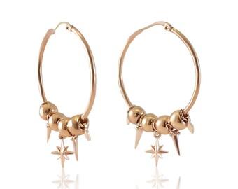 Tammy - Large Statement Hoop Earrings