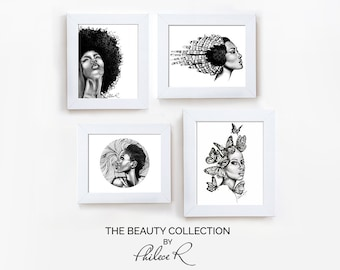 Set of 4 Art Prints | The Beauty Collection