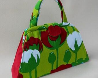 Vintage Tulip Lime Green Handbag
