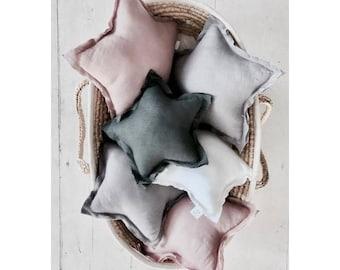 Linen Star Pillows