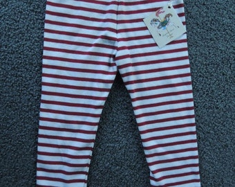 Black or Red Striped Leggings for Children