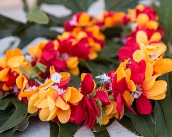Deluxe silk flower lei all pink plumerias deluxe silk flower lei red yellow plumerias mightylinksfo