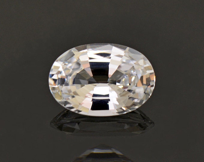 Gorgeous Brilliant White Sri Lankan Sapphire Gemstone 1.17 cts.