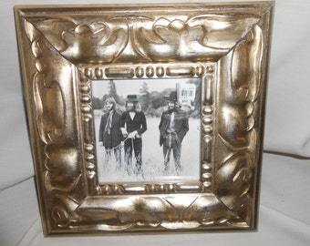 Awesome Detailed Picture Frame with Beatles Print New Old Stock