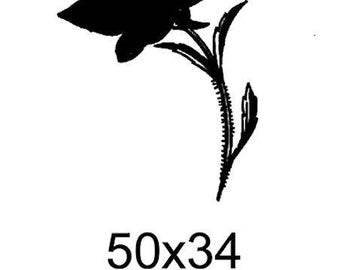 Sold unmounted tc007 flower stamp