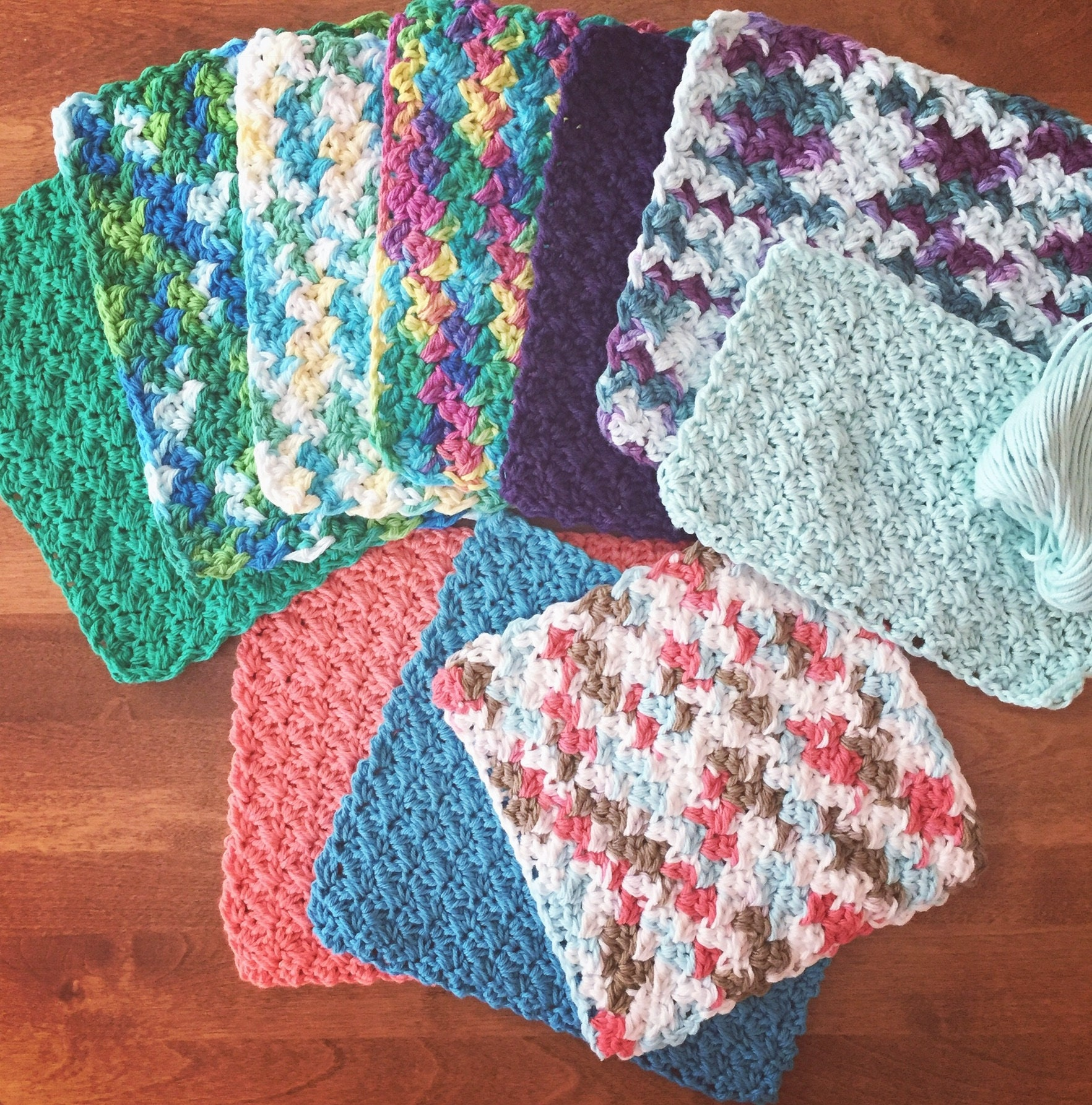 CROCHET PATTERN SET/Cotton Crochet/Crochet Dishcloth/Crochet ...