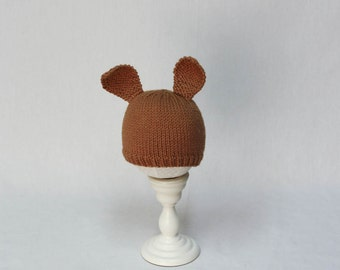 Cozy Cables Child Hat Knitting Pattern Cute Stocking Cap Hat