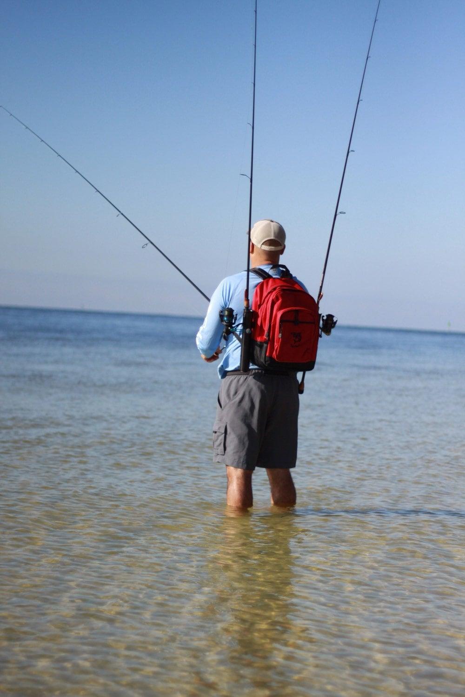 Fishnpack top predator fishing backpack with rod holders for Fishing backpack with rod holder