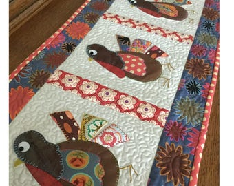 Gobble, Gobble, Gobble- table runner pattern by Cleo and Me