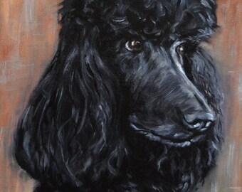 """custom dog Painting, pet art, pet portrait, portrait Commission, Dog painting from a photo, standard poodle, personalized pet art, 8x10"""""""