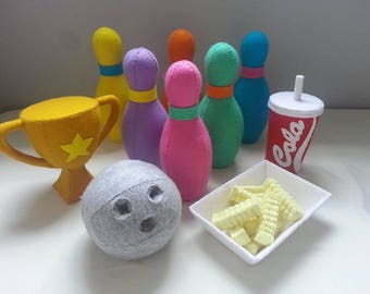 Felt Bowling Set - Patterns and Tutorials PDF Sewing Patterns (Instant Download)