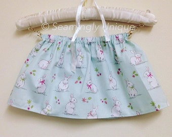 rabbit skirt, easter skirt, mint bunny skirt, baby outfit, childrens outfit, spring clothes, bunny skirt, girls skirt, summer clothes