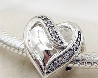 Authentic Pandora Ribbon of Love Charm #791816CZ