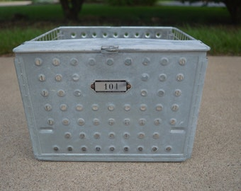Vintage Metal Locker Pool Gym Baskets ~ Androck Incorporated Worcester, Mass., Rockford, Ill.