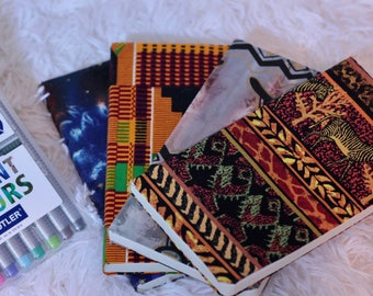 African Fabric Wrapped Notebooks