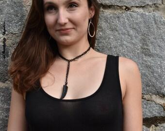 Rayna Pave Horn Necklace