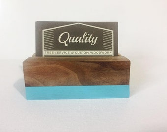 Custom Business Card Holder-Desk Organizer-Recipe Holder-Wedding