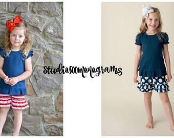 Ruffled Shorties/Make It an Outfit/Add on ruffle shorts/Girls Shorts