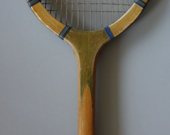 Rare condition Williams & Co Paris 1930s 1920s 1910s Driva tennis racket French racquet wall decoration antique sports collectable marked