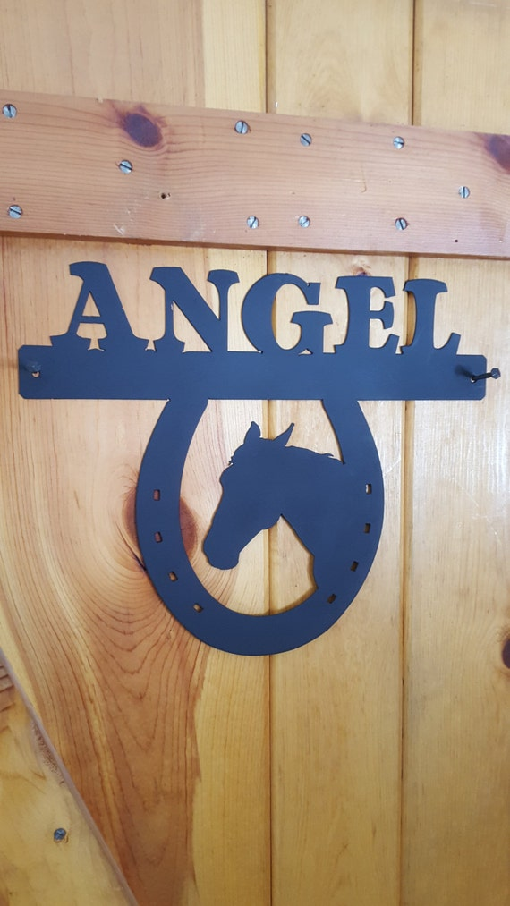 Horse Stall Nameplate,Custom Name Plate,Metal Sign,Metal Cut Sign,Horse Lover,Barn Sign,Metal Art,Plasma Cut Sign,Farm Sign,Barn Name Plate