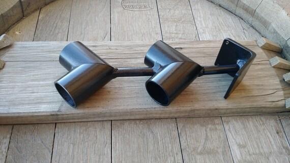 Doble barra soporte de esquina poste de madera o soporte de