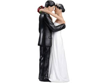 Wedding Cake Top, Hispanic Bride and Groom Cake Topper, Hispanic Couple Wedding Cake Topper, Wedding Cake Top Figurines