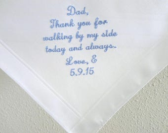 Father of the Bride Handkerchief /Father of the Bride Hankerchief/ Wedding Handkerchief for Dad/ Wedding Gift for Dad
