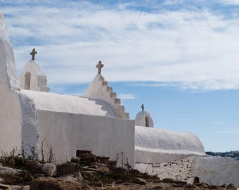 The Three Crosses of Mykonos Fine Art Photograph travel photo wall art