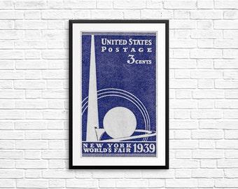 new york print decor, new york wall print, vintage new york wall art, 1930s posters, trending now, vintage science gift, wall art livingroom