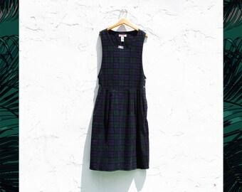 plaid corduroy jumper dress