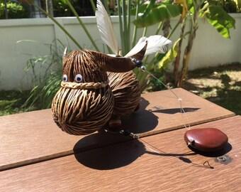 Coconut shell for mobile,Natural,for Garden Gift