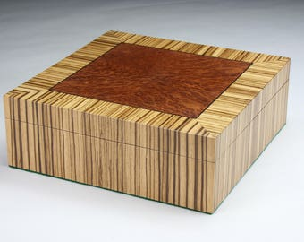 Zebrawood box Etsy