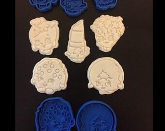 Shopkins Uk Seller Plastic Biscuit Cookie Cutter Fondant Cake Decorating