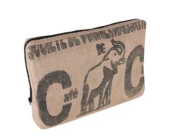 "Laptop bag ""Coffee""-15 inch-from coffee bag (-: Black Elephant)"