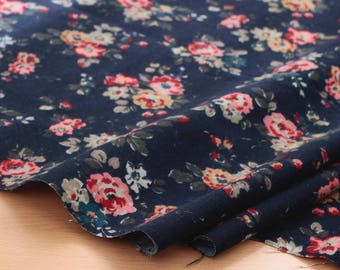 Floral Wide Flannel Cotton By the yard (width 59 inches) 91659