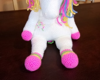Crochet magical unicorn