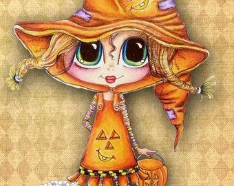 INSTANT DOWNLOAD Digital Digi Stamps Big Eye Big Head Dolls Bestie New Bestie img607 Halloween Witch Fall Bestie My Besties By Sherri Baldy