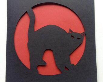 Cat Paper Cut Card