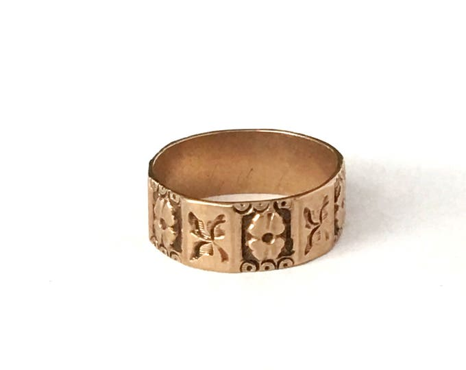 10K Gold Baby Ring Rose Gold Fine Jewelry Vintage Ring Box