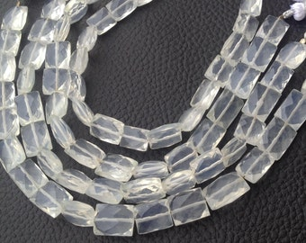 New Arrival, Natural ICE QUARTZ Faceted Rectangular Shape Briolettes, 11-12mm Size,Great Quality at Low Price