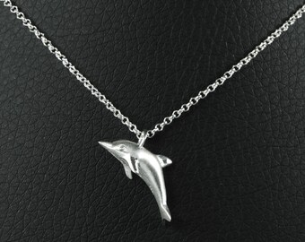 Dolphin Necklace Charm - Sterlings Silver Nekclace With Dolphin Charm Make the Best Summer Gift