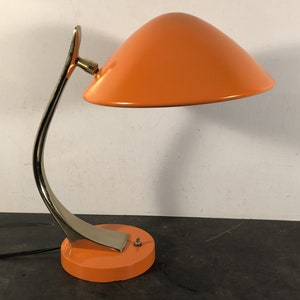 Vintage Retro Mid Century Mod Laurel Lamp Co Desk Light Repainted Vibrant  Orange New Cord