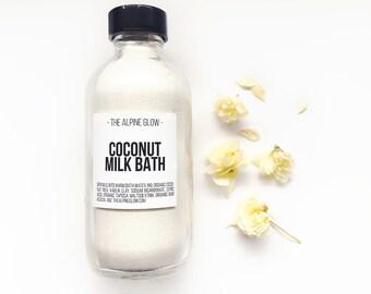 COCONUT MILK BATH  - Vegan Bath Products - Coconut Bath Soak - Bath Gift - Bath Bomb Powder - Tub Soak - 100% of profit donated to charity!
