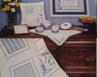 Imaginating China Blue Counted Cross Stitch Pattern Book #71  6 designs by Cheri Miller  1990